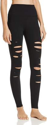 Alo Yoga High-Waist Ripped Warrior Leggings $125 thestylecure.com