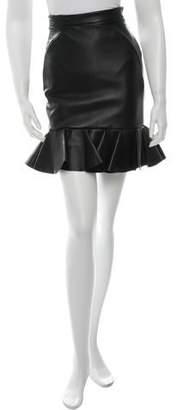 David Koma Leather Mini Skirt w/ Tags
