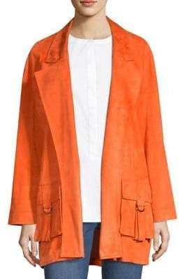 St. John Oversized Suede Jacket