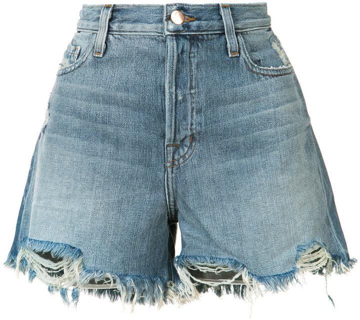 J BrandJ Brand frayed denim shorts
