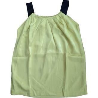 Maje Yellow Silk Top for Women