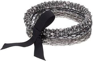 Vera Wang Simply Vera Ribbon Tie Multi Strand Stretch Bracelet