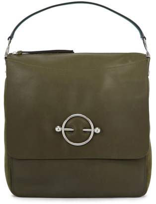J.W.Anderson Disc Olive Leather Hobo Bag