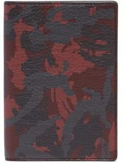 Smythson Burlington Grained Leather Passport Holder - Mens - Red Multi