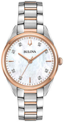 Bulova Womens Two Tone Bracelet Watch-98p183