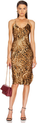 Nili Lotan Short Cami Dress in Ginger Leopard Print | FWRD