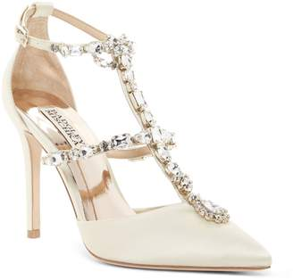 Badgley Mischka Warner Jeweled T-Strap Pump