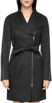 Mackage Estella Leather Trimmed Trench Coat