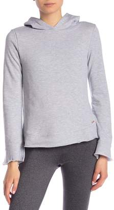 AVEC LES FILLES Flared Sleeve Knit Hoodie