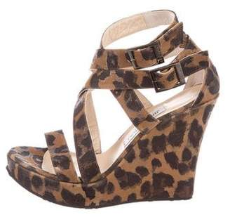 Jimmy Choo Leopard Platform Wedges