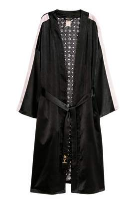 H&M Long Kimono - Black - Women