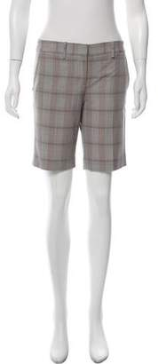 BCBGMAXAZRIA Plaid Knee-Length Shorts