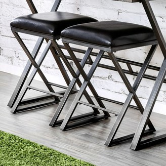 Furniture of America Milton Industrial Bar Stool, Black