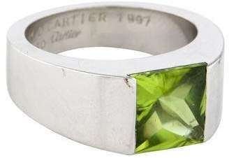 Cartier 18K Peridot Tank Ring