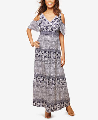 Jessica Simpson Maternity Cold-Shoulder Maxi Dress $69.98 thestylecure.com