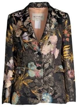 Etro Floral Jacquard Blazer Jacket