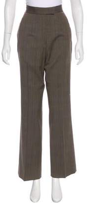 Richard Tyler High-Rise Wool Pants