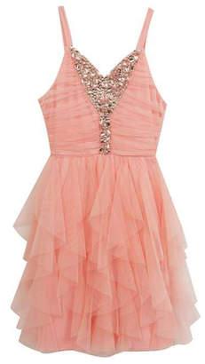 Rare Editions Cascade Mesh Dress $130 thestylecure.com