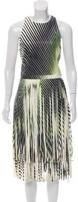 Tamara Mellon Leather Fringe-Trimmed Mini Dress