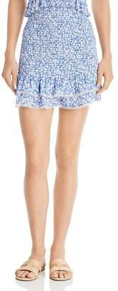 Lost and Wander Lost + Wander Pick Me Smocked Ruffled Mini Skirt