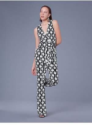 Diane von Furstenberg Terria Silk Jersey Wrap Jumpsuit