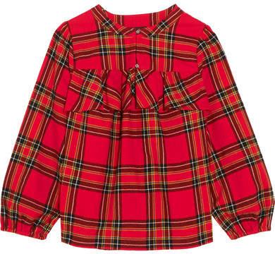 J.Crew - Gelder Ruffled Tartan Cotton-flannel Shirt - Red