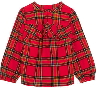 J.Crew Gelder Ruffled Tartan Cotton-flannel Shirt - Red