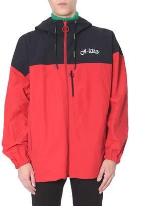 Off-White Off White Hooded Windbreaker Jacket