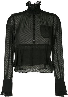 Carven frilled loose blouse