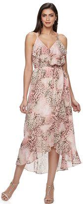 Women's Jennifer Lopez Metallic Faux-Wrap Maxi Dress $78 thestylecure.com