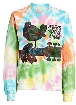 MadeWorn Women's Woodstock 3 Days of Peace Tie-Dye Sweatshirt