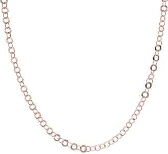 "Bronzo Italia 20"" Starburst Diamond Cut Round Link Necklace"