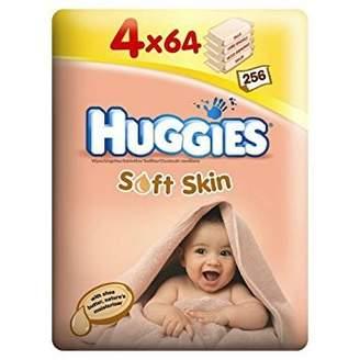 Huggies Soft Skin Wipes 4 x 64 per pack case of 1