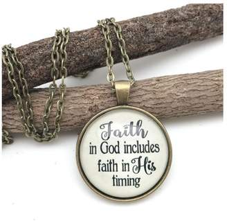 Never Lose Hope Designs Faith Timing Necklace