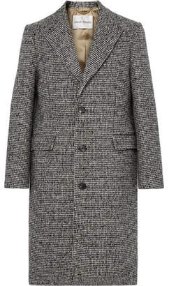 Privee SALLE Adrian Houndstooth Wool-Blend Overcoat