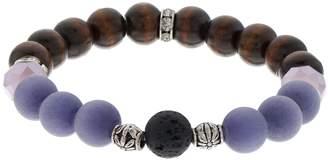 Believe In Purple Glass Bead Lava Stone Essential Oil Bracelet