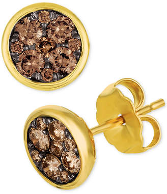 LeVian Le Vian Chocolatier Diamond Cluster Stud Earrings (1/2 ct. t.w.)