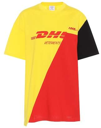 Vetements DHL printed cotton T-shirt