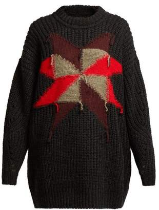 Isabel Marant Hakari Intarsia Knit Sweater - Womens - Black Multi