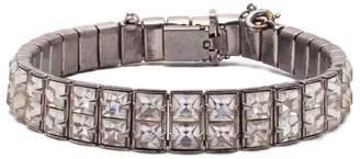 Lulu Frost Vintage Art Deco Double Row Crystal Bracelet