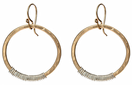 Calico Juno Two Tone Hoop Earrings