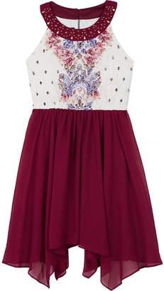 Amy Byer Iz Girls 7-16 IZ Sleeveless Hanky Hem Dress