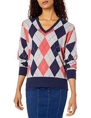 Lacoste Women's Long Sleeve Jersey Argyle Sweater