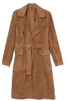 MANGO Leather trench