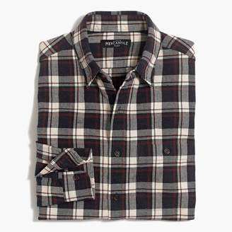 J.Crew Rugged elbow-patch shirt in gray plaid