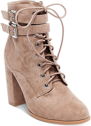 Madden Girl Klaim Combat Booties Women's Shoes $79 thestylecure.com