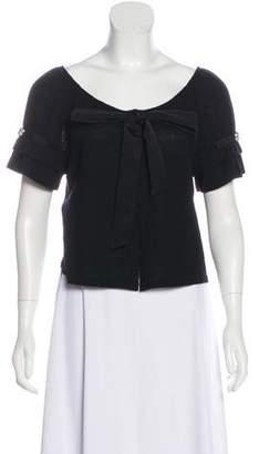 Alberta Ferretti Wool Button-Up Cardigan