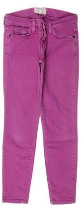 Current/Elliott Distressed Low-Rise Skinny Jeans w/ Tags