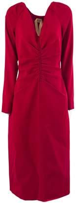 N°21 N.21 Long Dress In Red Fabric