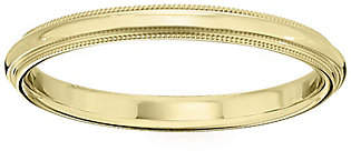QVC Men's 18K Yellow Gold 2.5mm Milgrain Wedding Band